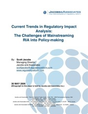 current trends and processes in ria may 2006 jacobs and associates
