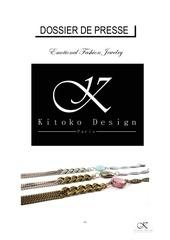 dossier de presse kitoko design paris