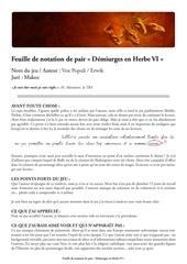 feuille de notation deh6 voxpopuli par makoz
