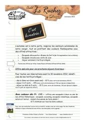 newsletter automne 2012