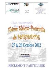 r glement slalom 2012