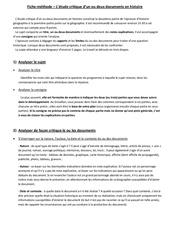 fiche methode etude critique de docs histoire 1
