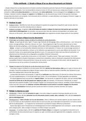 fiche methode etude critique de docs histoire