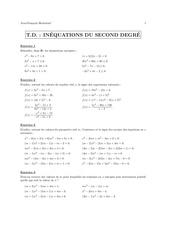 td 11 inequations du second degre