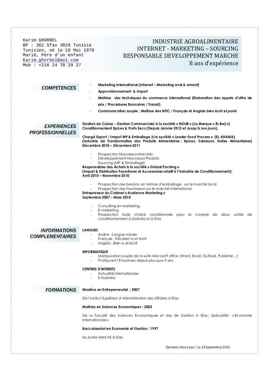 cv karim par karim - cv ghorbel karim pdf