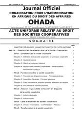 droit des societes cooperatives ohada 001