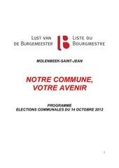 Fichier PDF programme de la liste du bourgmestre