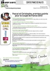 communique de presse tac pascal et christophe premiers points po