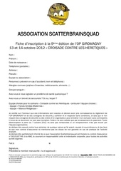 fiche d inscription op octobre 2012