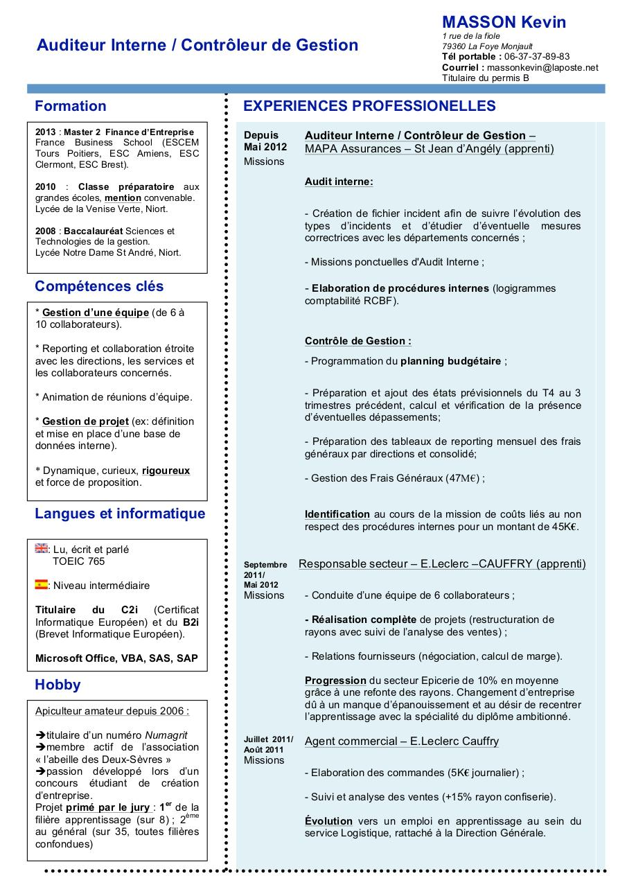 cv doc par kevin masson