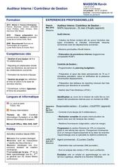 cv pdf audit interne