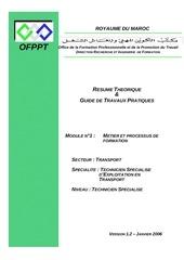 m01 metier et processus de formation tra tset