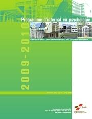 programme internat psychologie 2009 2010