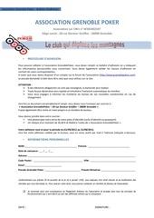 bulletin adhesion gp 2012 2013