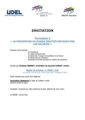 invitation formation a la prevention du risque routier encouru p