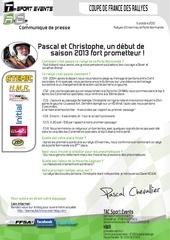 communique de presse tac pascal et christophe un debut de saison