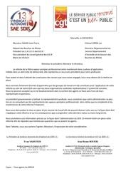 courrier commun saesdis13 cgt sdis13 mise en place de la filiere spp 02 octobre 2012