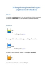 melange homogene et heterogene