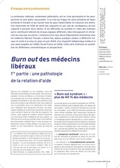 burnout medecin liberaux