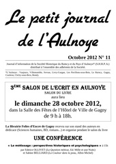 le petit journal n 11 octobre 2012 1
