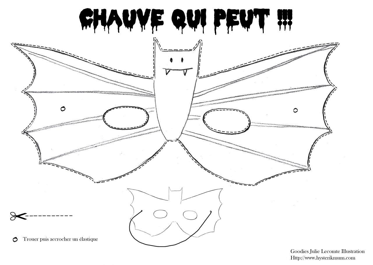 Masque chauve souris fichier pdf - Masque chauve souris a imprimer ...