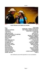 Fichier PDF play list cahors