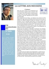 lettre aux meusiens septembre octobre 2012