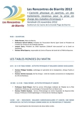 programme rencontres biarritz 2012