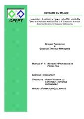 m01 metier et processus de formation