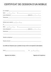 certificat de cession par moureau marie laurence certificat cession fichier pdf. Black Bedroom Furniture Sets. Home Design Ideas