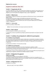 enquete de satisfaction client 2012 2