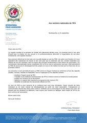 lettre president international