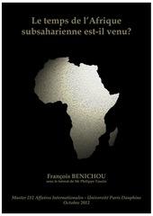 benichou francois le temps de l afrique subsaharienne est il ven