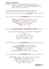 calendrier u15 minimes 2012 13