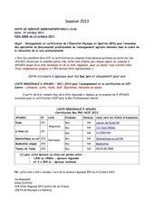 liste 2013 bac pro hccf