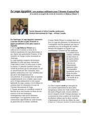 article yoga egyptien