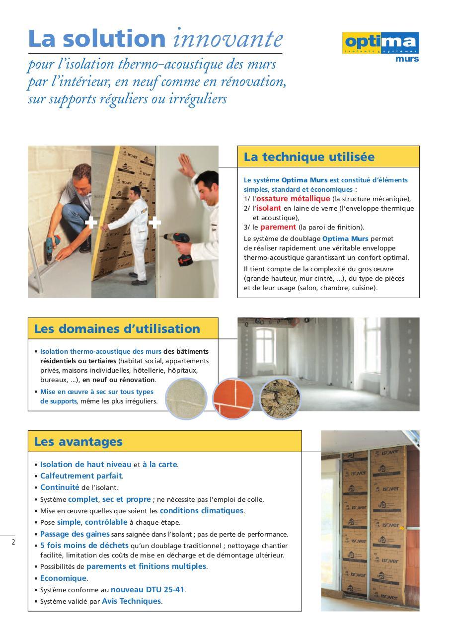 optima doublage thermique phonique mur interieur fichier pdf. Black Bedroom Furniture Sets. Home Design Ideas