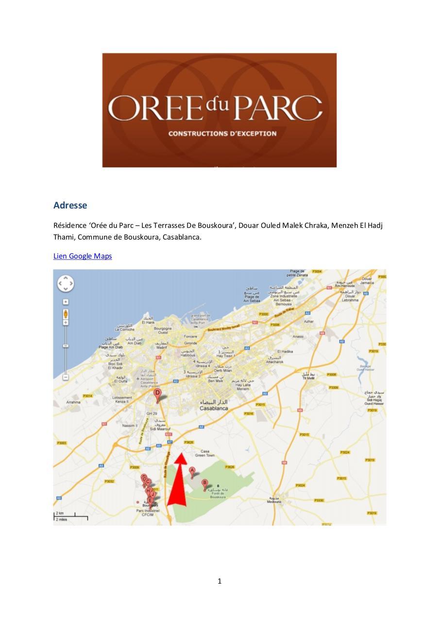 Parcours Oree Du Parc Bouskoura 3 Par Djwaas Fichier Pdf
