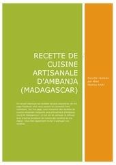 recette de cuisine artisanale dambanja madagascar v 1