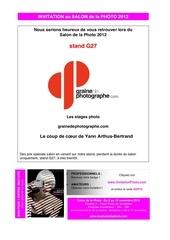 e invitation salon de la photo 2012 graine de photographe