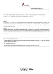 le role de l industrie dans les villes moyennes de bretagne