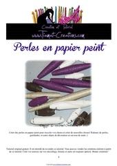 Fichier PDF perles de papier