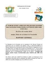 rapport general des omd abidjan2012