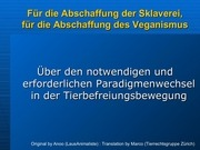 presentastion abolition of veganism german