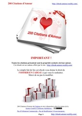 Fichier PDF 200 citations d amour