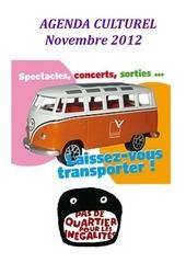 agenda culturel novembre 2012