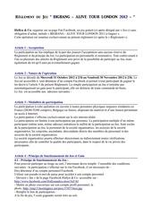 reglement concours bb 2012