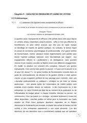 chapitre 5 analyse du probleme et cadre de l etude wenceslas lud