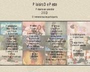 calendrier plaisirs de peste 2013