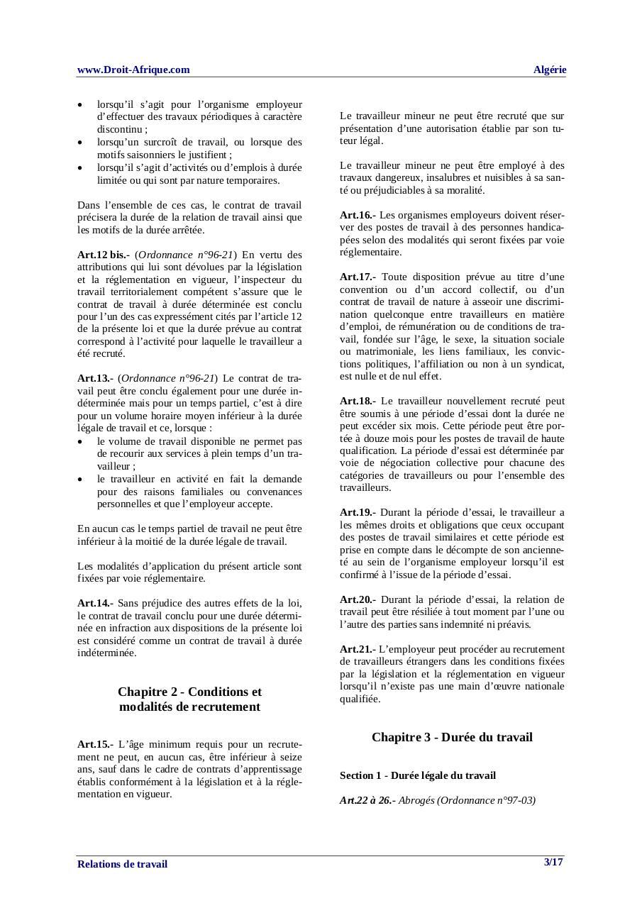 La Duree Legale Du Travail En Algerie Cocagnetires